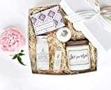 Luxury Spa Day Gift for Women- Relaxing Lavender Essential Oil Spa Day Self Care Kit