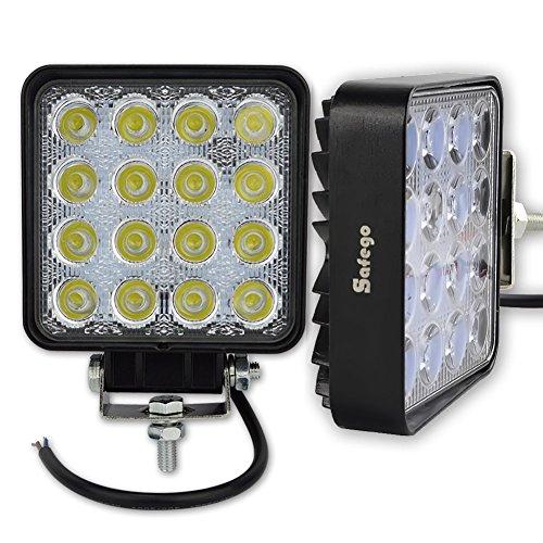 Safego Off-road 48 W LED de travail Lampes spot lampe de travail 12 V tracteur Camion 4 x 4 à 30 ° étanche 48 Ws-sp Lot de 2