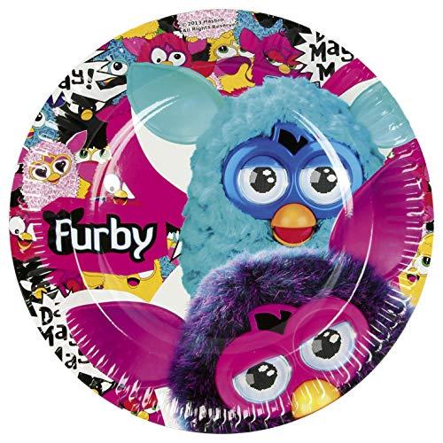 Amscan 23 cm Furby 8-paper plaques