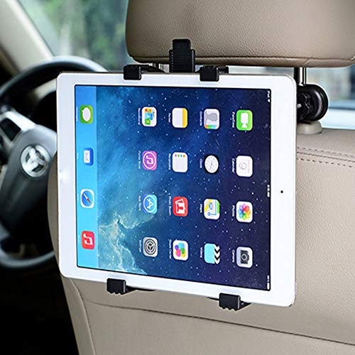 SSN Sports, Car Headrest iPad Tablet PC Holder Carrier Mount, Cradle for Child Tab Universal Compatible for 7 to 11 inch Tablet All make and model Apple iPad, Air Mini 2 3 4, E-reader Samsung Tablet