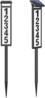 SUNGATH Lighted House Address Numbers Sign,Solar Powered House Numbers Light for House and Yard (Height 35 Inches)