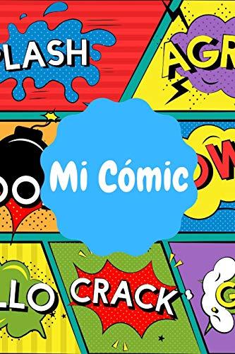 Mi Cómic: Cómic en Blanco con Viñetas | 110 Páginas para desatar tu Creatividad | Distintos Tipos de Viñetas | Cómic o Tebeo En Blanco Para Dibujar