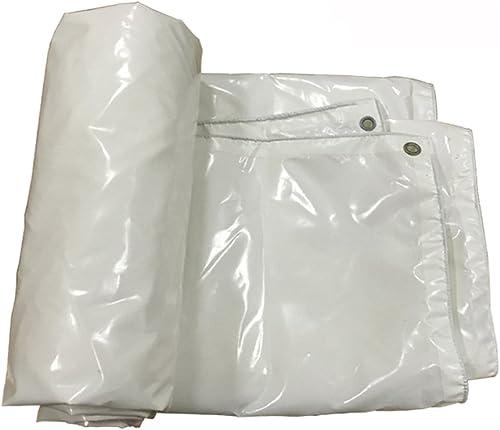 GLJ Bache Imperméable à l'eau Solaire Parasol Parasol Tissu Imperméable à l'eau Tissu Voiture Toile Bache Camion Personnalisé bache (Couleur   Blanc, Taille   5  6m)