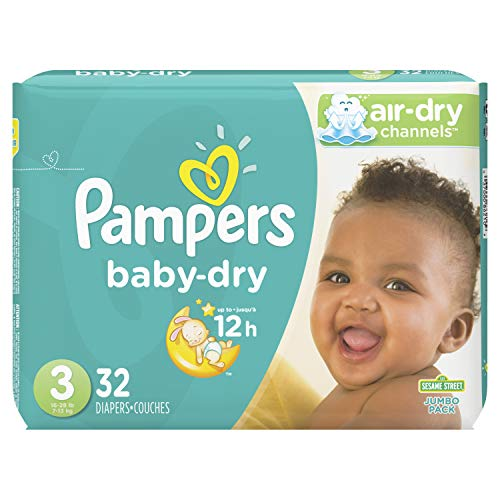 Diapers Size 3, 32 Count - Pampers Baby Dry Disposable Baby Diapers, Jumbo Pack