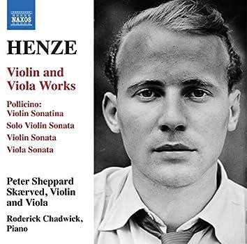 Henze: Violin & Viola Works