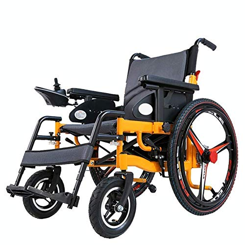 HXCD Rueda eléctrica Plegable Plegable Ligero Anciano Anciano Discapacitado Inteligente Automático Plegable Potencia 25Km, 15km