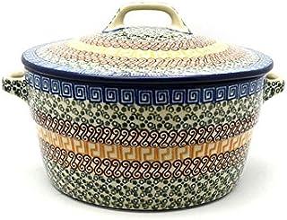 Polish Pottery Baker - Round Covered Casserole - Autumn