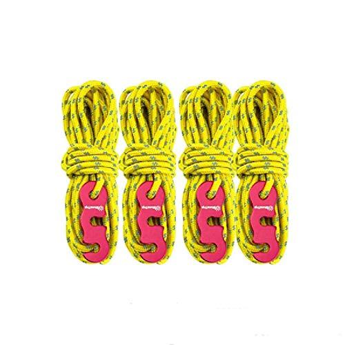 4 Piezas Cuerda para Tienda, Cuerda de Tienda Cuerda Reflectante, con Ajustador,...