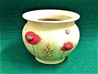 Sottovaso in ceramica linea papaveri