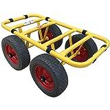 Ravendo Plattenwagen Transportwagen Dolly 4 Rad 300 Kg Schwerlast Lasten Karre Transportkarre Pannensicher Made in Europe