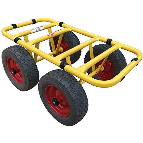 Ravendo Dolly - Carro de transporte con 4 ruedas, 300 kg, resistente a los pinchazos, fabricado en Europa