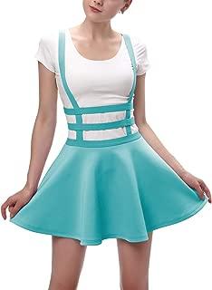 Urban CoCo Womens Elastic Waist Pleated Short Braces Skirt