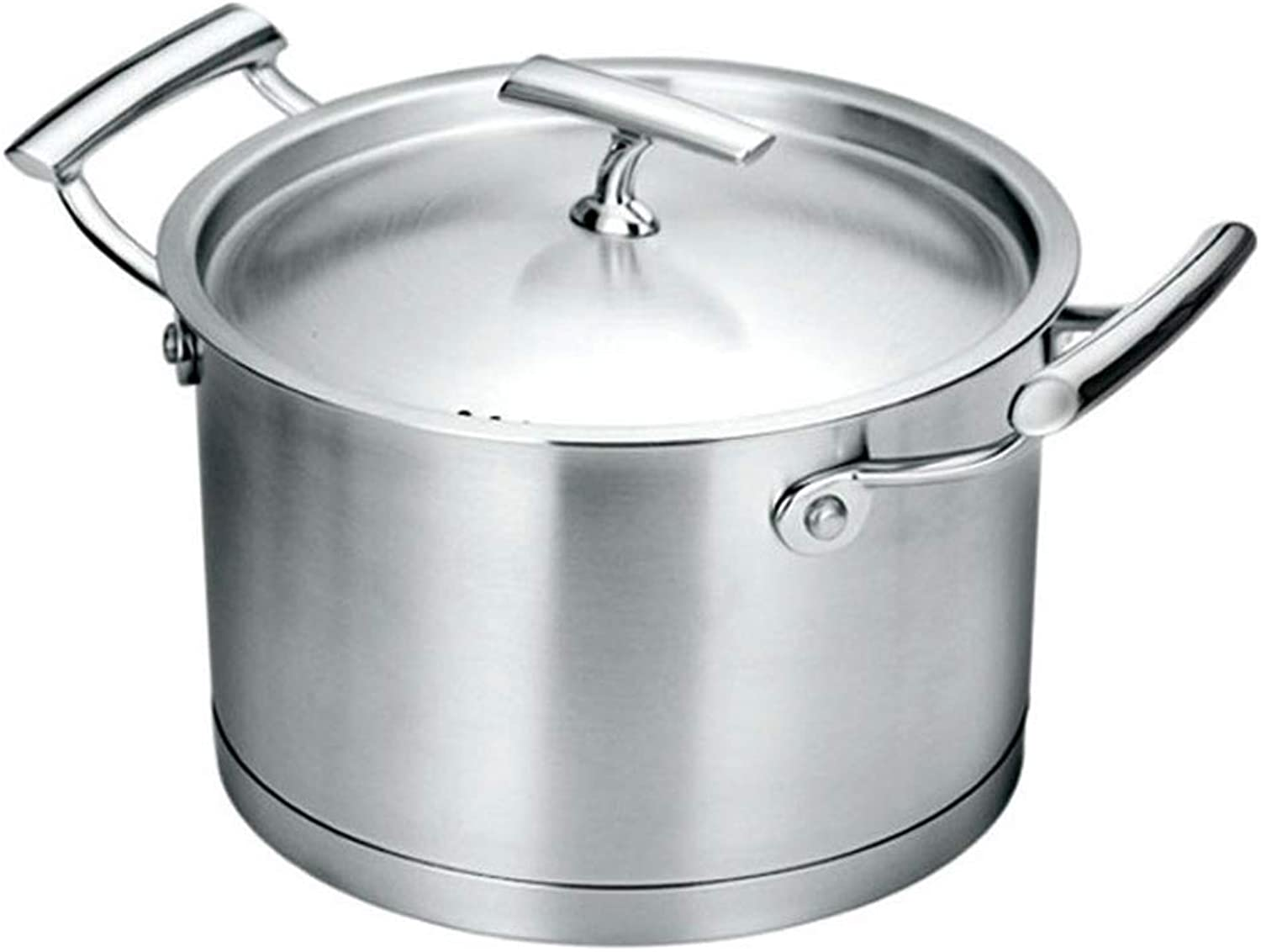 LLDDP Cooking Equipment Stockpot with Stainless Steel lid Casserole Pot Durable Enough Suitable for All Stove Tops Including Induction DishwasherSafe Healthy cookware,Silver Frying Pan