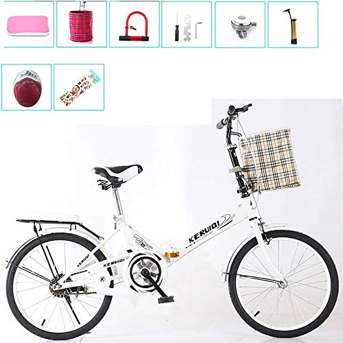 Best Buy! Baiesitong Folding Bicycle Small Student Male Bicycle Folding Bicycle Bike Carrier,Folding...
