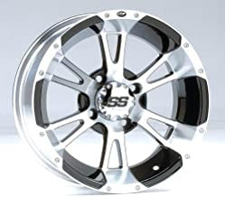 ITP SS ALLOY SS212 Black Wheel with Machined Finish (12x7