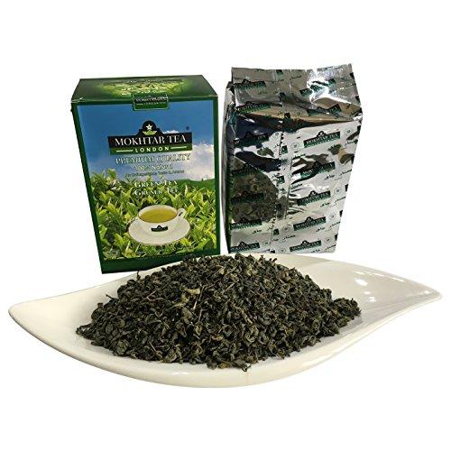 Té verde de hojas sueltas de 500 gramos por Mokhtar of London