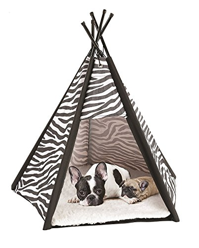 Etna Portable Lightweight Teepee Pet Tent - Warm and Cozy With Soft Bed...