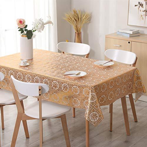 marca blanca Mantel de PVC con un paño de hule de vinilo para mesa de cocina protector135 x 260 cm