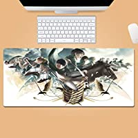 Anime Att-Ack On Ti-TanマウスパッドXxlゲーミングマウスパッド滑り止めラバーベースマウスパッドデスクアクセサリー-A_900X400X3mm