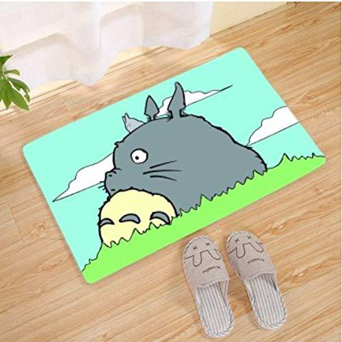 HFDSG Alfombra Rectángulo Dormitorio Comedor Sala De Estar Balcón Habitación para Niños Dibujos Animados Anime Lindo Mi Vecino Totoro Patrón Moda Alfombra De Piso Simple