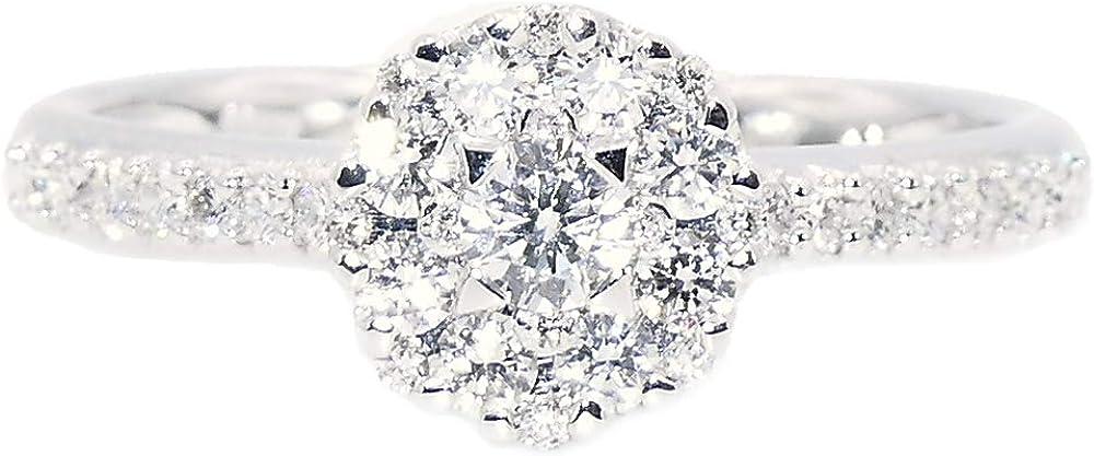 Davite & delucchi anello oro bianco con diamanti AA031470