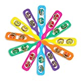 ArtCreativity Cymbals for Kids - Pack of 12 - Handheld Music Toys, Colorful Rattle Musical Instruments for Children, Fun Party Noisemakers, Party Favors and Goodie Bag Fillers for Boys and Girls