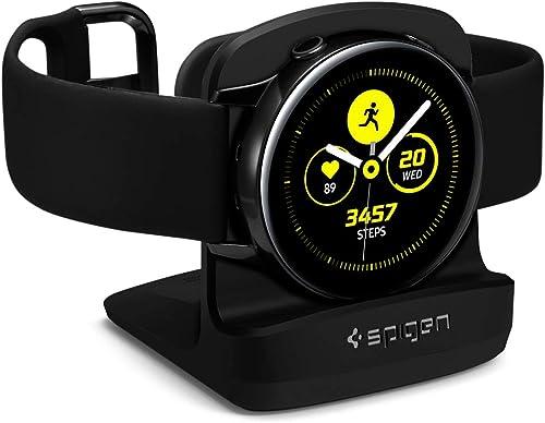 wholesale Spigen S351 new arrival Designed for Galaxy Watch 4 Stand/Galaxy Watch 4 Classic Stand/Galaxy Watch 3 outlet online sale Stand/Galaxy Watch Active Stand [Without Case/Button Side Up] - Black outlet online sale