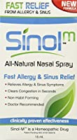海外直送品Sinol Sinol-M Allergy/Sinus Relief Nasal Spray, Allergy 15 Ml