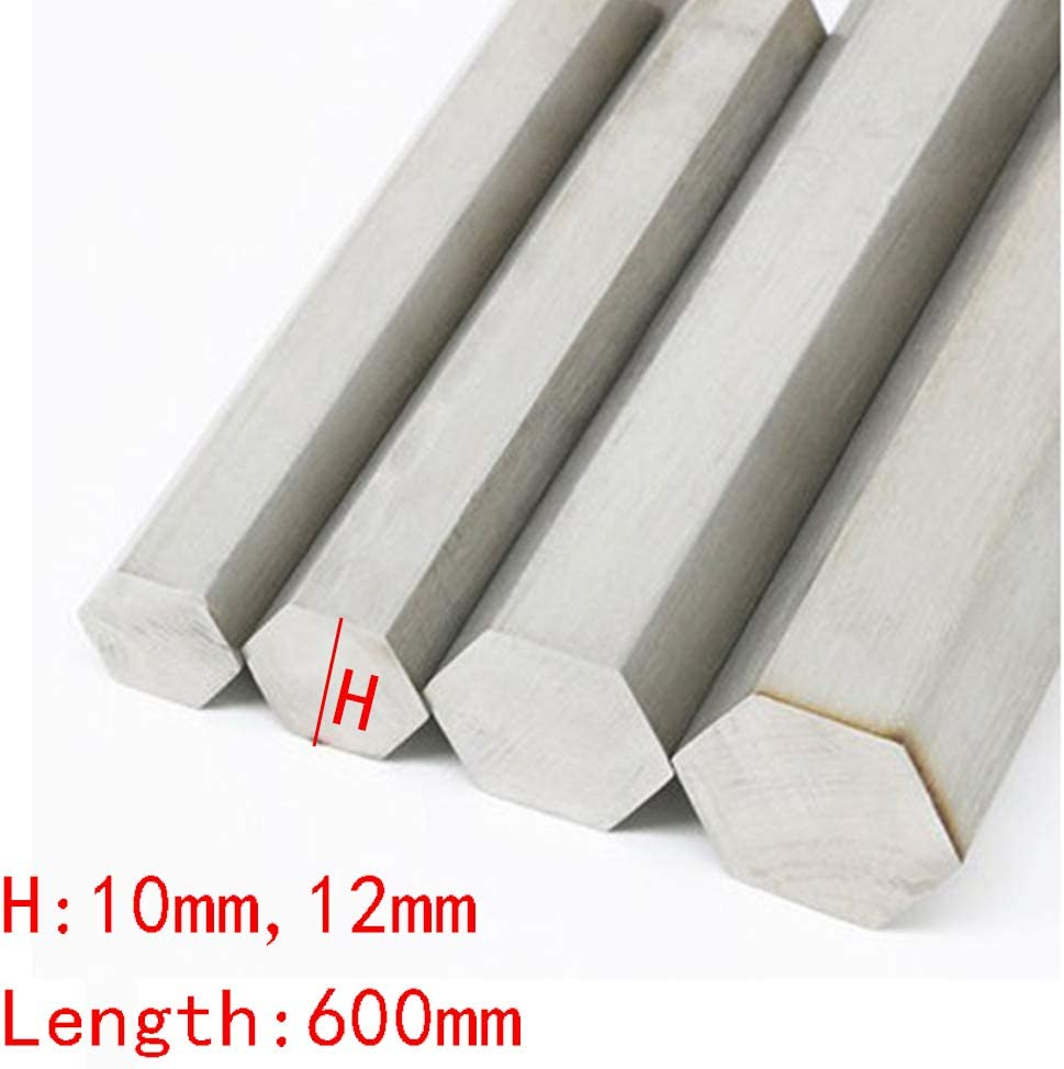 Length 600mm H:10mm Wzwwjs Hexagonal Solid Aluminum Rod Good Processability 12mm,H:10mm
