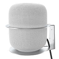 Wall Mount for Apple HomePod, VORI Sturdy Aluminum Alloy Made Bracket Mount Stand Anti-Scroll Holder for HomePod Smart Speaker-Silve