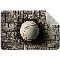 エリアラグ軽量 レンガの壁に埋められた野球 フロアマットソフトカーペットチホームリビングダイニングルームベッドルーム