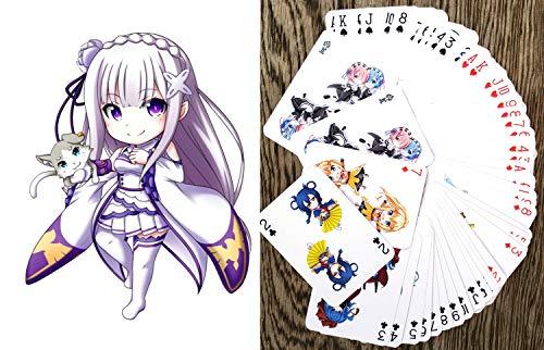 Chibi Anime Kartenspielen (Poker 54 Karten alle Anders) Kueno Chibi Japan Manga Anime Characters SAO Naruto