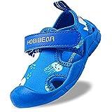 Gaatpot Mixte Enfants Sandales pour Bébé Fille garçon Bout Fermé Sandale de Trekking Piscine Plage Été Souple Chaussures de Sport Outdoor Bleu 25.5 EU