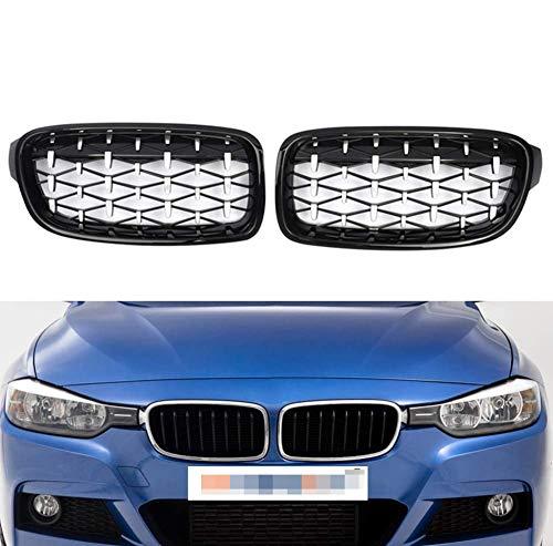 NBPLUS 1 par de rejillas de repuesto para BMW F31 F30 320I 328I 330I 335I 2012 – 2016, cromo