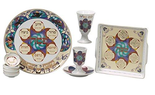 Israel Giftware Design Israel Giftware Design Modernes Porzellan Seder-Set