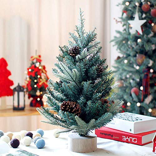 weiwei PVC Table Top Christmas Pine Premium Spruce Foldable Pre-Holiday Decoration Solid Metal Legs Artificial Christmas Tree for Indoor Christmas Tree-w 90 (35inch)
