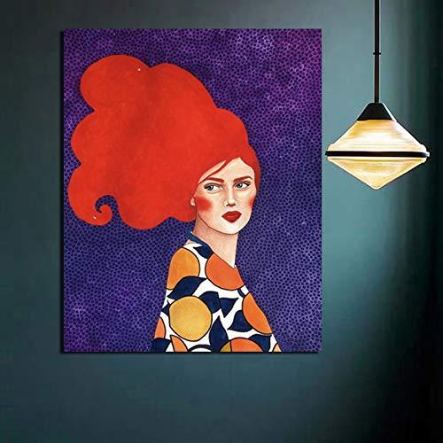 Papel pintado de arte de moda Impresión de pintura en lienzo Sala de estar Decoración del hogar Obra de arte Cuadros Arte de pared moderno Pintura al óleo Pintura decorativa sin marco Z9 50x70cm