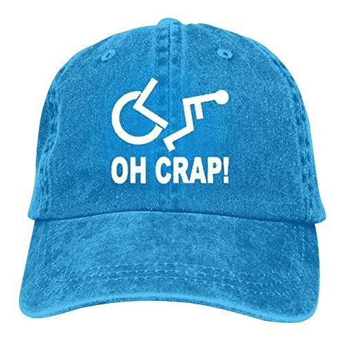 Crap Handicap Wheelchair Unisex Vintage Adjustable Cotton Baseball Cap Denim Dad Hat Cowboy Hat