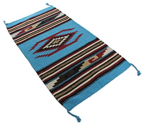 Onyx Pfeil Southwest Décor Bereich Teppich, Acrylbeschichtete Baumwolle, Eagle Eye Turquoise/Burgundy, 20 x 40