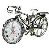 LOVIVER Vintage árabe Numeral Forma de Bicicleta Mesa Creativa Reloj Despertador Decoraciones para el hogar