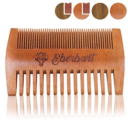 Eberbart Baardkam + Gratis eBook - Antistatische kam van echt hout voor een natuurlijk verzorgde baard