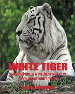 White Tiger: Amazing Photos & Interesting Facts Book about White Tiger