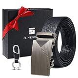 flintronic Cinturón Cuero Hombre, Cinturones Piel con Hebilla Automática, Sencillo y Clásico...