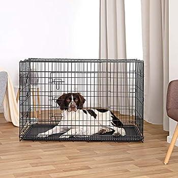 dibea Cage de transport pliable pour chiens et petits animaux - 2 portes - 122 x 75 x 81 cm (3XL)