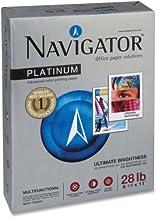 Navigator Platinum Office Multipurpose Paper - for Laser Print - Letter - 8.50quot; x 11quot; - 28 lb - Smooth - 99 Bright...