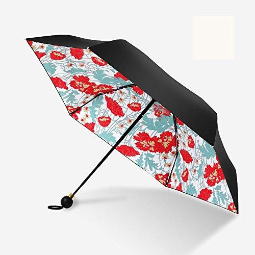 hfudfrvhfjdg Sun Sonnenschirm Neue fünfzig Prozent Regenschirm Vinyl Sunscreen Taschenschirm Sonnenschirm Kapsel Regenschirm Ultralight Mini Sonnenschirm Nelke quadratische Platte 54 cm * 8 Knochen