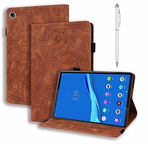 DYGG Compatible con Funda Lenovo Smart Tab P10/M10 10.1 Pulgada (X705L X705F TB-X605L X605F) Portátil Funda de Tableta Cuero PU+TPU Tablet Sleeve Bag Funda Protectora,marrón
