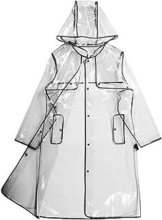 ds. distinctive style DSstyles Impermeable transparente Mujer EVA Abrigo impermeable con capucha Impermeable Poncho imperm...