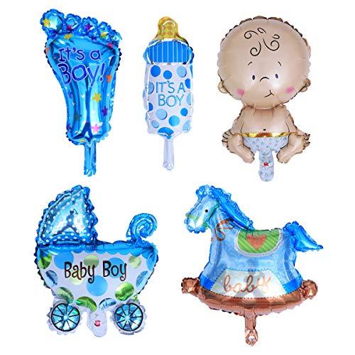 STOBOK 5 Piezas Globos de Aluminio de Bebé Decoraciones de Fiesta Bautizo Cumpleaños de Bebés