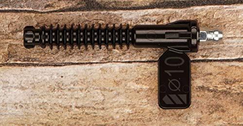 Polymerpacker Injektionspacker Set für Bohrloch 10 mm (100 Stück Kunststoff-Einschlagpacker mit eingeschraubten Kegelnippel aus Stahl und Einschlagwerkzeug)